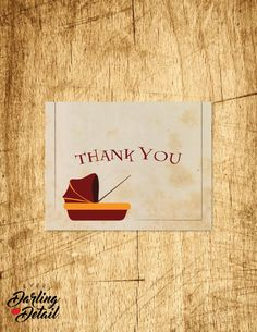"""Harry Potter Baby Shower Thank You Card 