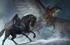 Griffin and horse art Like & Repin thx. Follow Noelito Flow instagram http://www.instagram.com/noelitoflow