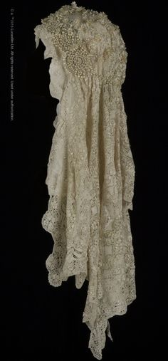 "Padmé  Amidala's veil is just one of dozens of amazing costume pieces in the Smithsonian traveling exhibition ""Rebel, Jedi, Princess, Queen: Star Wars™ and the Power of Costume."" The veil is made from Maltese lace and includes Edwardian wax flowers and tiny beaded pearls.   Learn more about the traveling exhibition at http://www.powerofcostume.si.edu  #StarWarsCostumes #CostumeDesign #StarWars #Costumes #VintageWeddingDresses #WeddingDresses http://www.powerofcostume.si.edu"