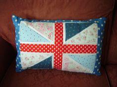 One of my Union Jack cushions, the dark polka dot is vintage 60's cotton poplin.