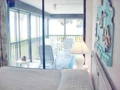 Waking up to the sliding glass door wide open to the Gulf Beach views....totally AWESOME!  Wake me up!...Am I dreaming!?