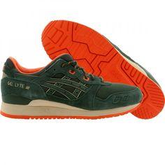 asics tiger mens gel lyte iii outdoor pack trainers dark green