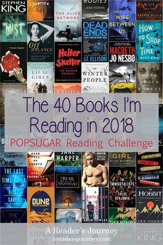 POP SUGAR Reading Challenge #1: The first ten of forty books I'm reading in 2018