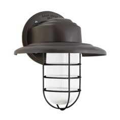 Atomic Streamline LED Wire Guard Sconce, 600-Bronze, CLR-Clear Glass $255