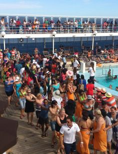 Sail-away party on an MSC Opera cruise from Durban to nowhere