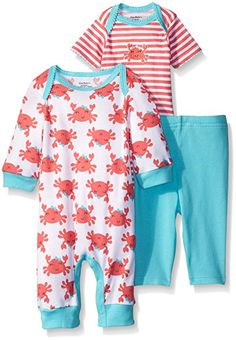 Amazon.com: Gerber Baby Three Piece Coverall Bodysuit and Legging Set, Fish, 3-6 Months: Clothing