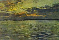 Isaac Levitan - The Lake, Eventide