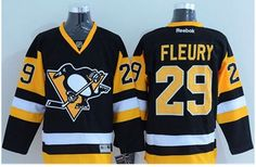 Pittsburgh Penguins #29 Andre Fleury Black Alternate Stitched NHL Jersey