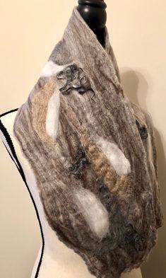 Excited to share this item from my shop: Felt Scarf Silk Scarf Sheep Curls Sheep Locks Wet Felt Camel Unique Scarf Felt Cowl Neck Warmer Wool Scarf Merino Wool Scarf Gift, Art Silk Scarves, Scarf Sale, Silk Tunic, Wet Felting, Wool Scarf, Neck Warmer, Silk Chiffon, Wool Felt