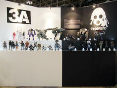 Our joined display with threeA, during winter Wonderfest in Japan   #threezero #Wonderfest #Japan