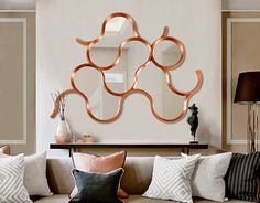 Source Cask Copper Mirror (Big) by Bat Eye Copper Mirror, Mirror Wall Art, Decoration, Shelving, Contemporary, Interior Design, House Styles, Inspiration, Furniture
