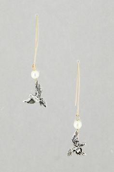 Bird on a Wire Earrings.  #Earrings #jewelry http://www.amusemeboutique.com/