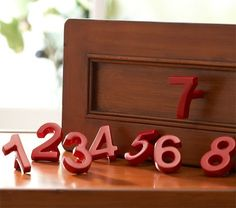 Number dresser pulls. No longer available at Pottery Barn, of course! Keeping my eyes peeled! I want these!