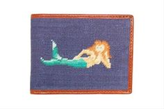 Mermaid Needlepoint Wallet