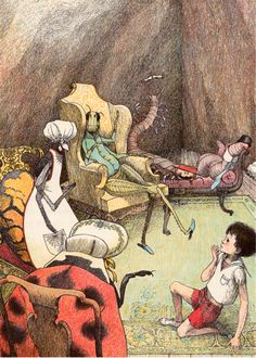James and the Giant Peach, written by Roald Dahl, illustrated by Nancy Ekholm Burkert (1961).