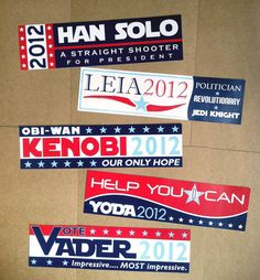 Star Wars politics - I would probably vote for anyone of these before the current candidates