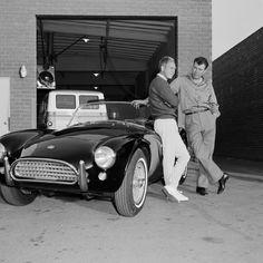 Steve McQueen and Carroll Shelby circa 1964