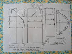 Molde de Vestido Envelope tamanho 48.