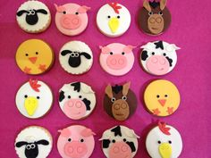 Farm friends, cute cookies