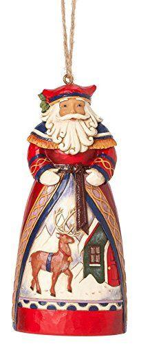 Heartwood Creek Santa Reindeer Scene Hanging Ornament