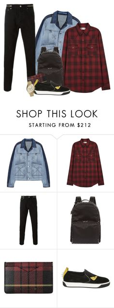 """""""Men"""" by samhoran95 ❤ liked on Polyvore featuring Kenzo, Yves Saint Laurent, Givenchy, Valentino, Alexander McQueen, Fendi, Michael Kors, men's fashion and menswear"""