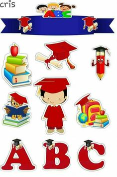 School Scrapbook, 1st Day Of School, Paper Cake, School Themes, Digi Stamps, Color Themes, Birthday Party Themes, Cake Toppers, Crafts For Kids