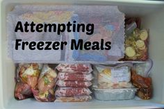 A trial and error journey with freezer meals.