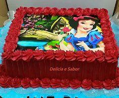 Bolo Emilly para dia 29/09 Baby Girl 1st Birthday, First Birthday Parties, First Birthdays, Birthday Cake, Snow White Cake, Snow White Birthday, White Cakes, Disney Cakes, Amazing Cakes