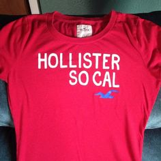 ✳️NEW LISTING✳️HOLLISTER RED WHITE LARGE TEE SHIRT Gently worn Ted Hollister tee shirt size large. In good shape except for tiny hole pictured in last pic. Still lots of wear left in this super cute shirt. Hollister Tops Tees - Short Sleeve