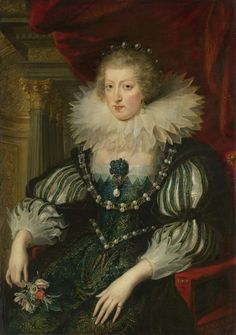 """1625-6, """"Anne of Austria"""" (1601-66). Wife of Louis XIII, king of France. ....pinned directly from the built in share icon (lower right, the rectangle w/an arrow coming out of it) @ Rijksmuseum.nl"""