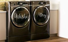 Wash & Dry Decals for Washers and Dryers, Laundry Room Decor, Washer and Dryer Decals, Washer Dryer Decal, Washer Decals, Dryer Decal, Vinyl
