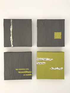 Winter Meets Spring- series of 4 small 6x6 inch paintings on canvas.