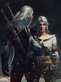 Geralt of Rivia and Cirilla #TheWitcher3 #WildHunt