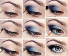 day makeup blue eyes
