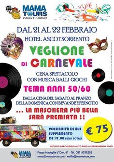 Carnevale a Sorrento #carnevale #sorrento   http://www.mamatours.it/?g=carnevale2015&veglione21-22