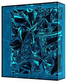 ANSELM REYLE  Untitled , 2010  Mixed media on canvas, acrylic glass  29 1/8 x 24 13/16 x 7 1/8 inches (71.5 x 60.5 x 20 cm)