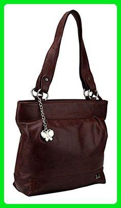 Butterflies Designer Faux Leather Casual Ladies Handbag Shoulder Tote Purse - Totes (*Amazon Partner-Link)