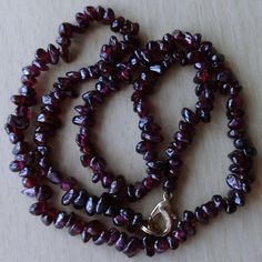 Vintage 17  Dark AMETHYST Quartz Bead Necklace