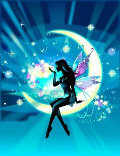 Fairy on moon