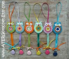 Owl pacifiers. Pic only.
