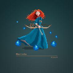 #MikeVDesign | Disney 8-bit Characters Vol. 1