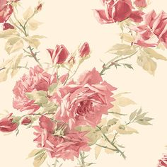 Interior Place - Pale Pink Paper Roses Wallpaper, $17.99 (http://www.interiorplace.com/pale-pink-paper-roses-wallpaper/)
