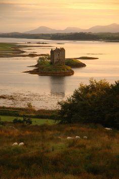 scotland, castle stalker
