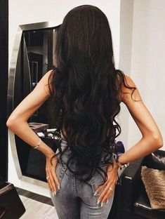 Brazilian Body Wave Hair 3 Bundles With Closure Grade Brazilian Virgin Hair Wavy Human Hair Bundles With Closure, Factory Cheap Price, DHL Worldwide Shipping,Store Coupons Available. Beautiful Long Hair, Gorgeous Hair, Coiffure Hair, Long Black Hair, Thick Long Hair, Long Curly, Body Wave Hair, Human Hair Extensions, Black Hair Extensions
