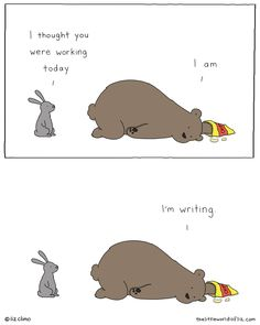 Funny Animal Comics, Cute Comics, Cute Funny Animals, Funny Cute, Liz Climo Comics, Funny Images, Funny Pictures, Lily Painting, Everything Funny
