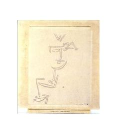 Artwork by Paul Klee, Devotion, 1879 Made of Pencil on paper mounted on cardboard
