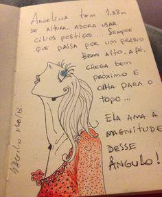 'Argelina' Moleskine - caneta fine line  #tapiocacomlimao #ilustração #arte #criação #design #moleskine #desenho #sketch