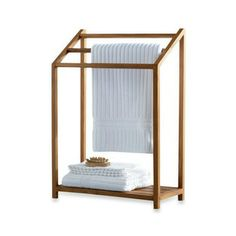 Teak Towel Rack (for the guest room) @Dusty McRust , this is perfect!!