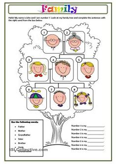 A simple worksheet about family members. - ESL worksheets