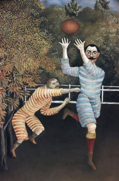 Detail of The Football Players by Henri Rousseau